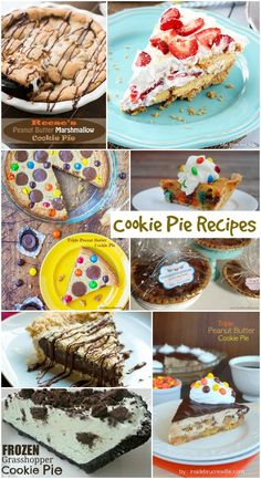 Cookie Pie Recipes from momsandmunchkins.com! These are so creative and delicious!