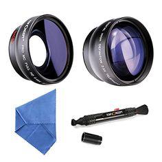 K&F Concept® 58mm Super Weitwinkelkonverter 0.45x Professionell HD Weitwinkel Objektiv Vorsatz mit Makrolinse 2.2X Telephoto Lens Teleobjektiv mit Reinigungstuch Reinigungspinsel für Canon Rebel T5i T3i XTi XS T4i T2i XT SL1 T3 T1i XSi EOS 1000D 600D 450D 100D 650D 700D 550D 400D 500D 300D 1100D and Nikon D7100 D5100 D3100 D300 D90 D70s D40x D3X D7000 D5000 D3000 D300S D80 D60 D3 D5200 D3200 D700 D200 D70 D40 D3S…