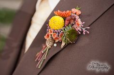 Fall Boutonniere this is sooo awesome...
