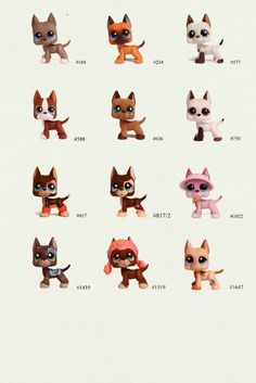LPS Great Danes. I have the one with the poodle hat and it's the only one I have. :)