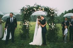 This Couple's Rainy Wedding Day at Castleton Farms is Too Pretty for Words The Image Is Found-38