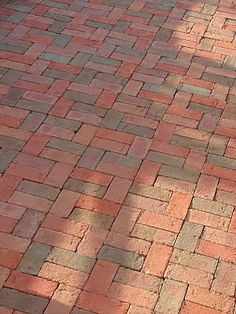 Brick Floor Patterns, Brick as Thermal Massing Brick Driveway, Brick Paver Patio, Brick Paving, Brick Path, Brick Flooring, Front Garden Landscape, Garden Paving, Garden Paths, Brick Patterns Patio