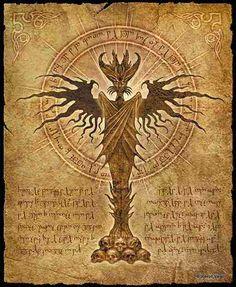 Ancient Gods: Fantasy Artwork by Joseph Vargo Dark Fantasy Art, Fantasy Artwork, Dark Art, Arte Horror, Horror Art, The Dark Tower, Necronomicon Lovecraft, Alchemy, Lovecraftian Horror