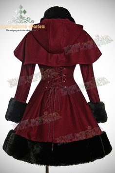 Fanplusfriend Classic Gothic Lolita: Heavy Wool & Fur Coat with Hood Cape Gothic Mode, Gothic Lolita, Lolita Fashion, Gothic Fashion, Beautiful Outfits, Cute Outfits, Mode Lolita, Mode Kawaii, Lolita Dress