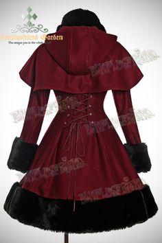 Manteau gothique lolita 'sombre romance'