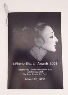 Irene Sharaff Awards 2008 Souvenir Program Booklet Costume Design Designer Book