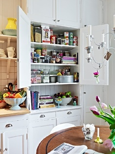 apartment in Sweden: kitchen pantry