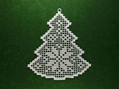 Christmas Tree Machine Embroidery design Freestanding Lace In image 0 Christmas Tree Embroidery Design, Lace Christmas Tree, Crochet Christmas Decorations, Christmas Border, Christmas Crochet Patterns, Crochet Snowflakes, Christmas Crafts, Crochet Snowflake Pattern, Christmas Design