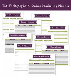 FREE DOWNLOAD:  The Photographers Online Marketing Planner to plan your blogging, editorial calendars, social media, newsletters and more!    Click here to download your FREE online marketing planner for photographers! http://yourmarketingwardrobe.com/onlinemarketingplanner