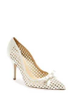 Love! Perforated glitter pump | Kate Spade