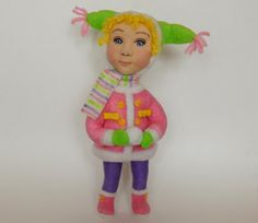 OOAK Needle Felted Doll  Little Anna in the by PurpleMooseFelting