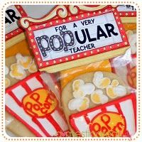cute teacher gift for teacher appreciation week. Instead of the cookie use a bag of microwave popcorn.