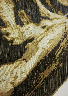 Jennifer E. Moss | detail of work | steel and cotton; woven on jacquard loom, then rusted | via jenniferemoss.blo..., Sep 2, 2012 post.