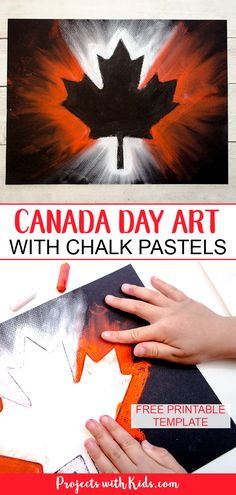 Canada Day Chalk Pastel Art Project for Kids Create this stunning Canada Day chalk pastel art with only a few simple supplies! Kids of all ages will love using chalk pastels to make this super easy art project. Chalk Pastel Art, Chalk Pastels, Chalk Art, Easy Art Projects, Projects For Kids, Project Projects, Painting For Kids, Art For Kids, Remembrance Day Art