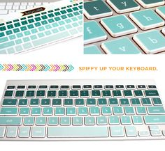 Crazy durable labels from KiDECALS. Great way to spiffy up your keyboard!