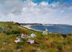 """Idle Hours"" painted by William Merritt Chase in 1894. It's done in oil on canvas."