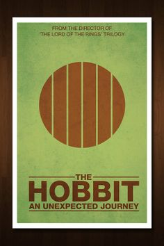The Hobbit: An Unexpected Journey Minimalist Poster - Based on the Tolkien Novel and Peter Jackson Films - 11x17