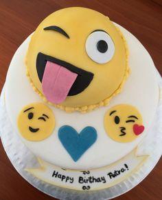 Emoji Cake Candy Bar Party 11th Birthday Girl Cakes Cupcake