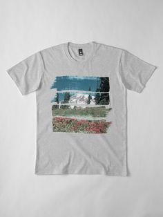 """""""Abstract Mountain Meadow"""" T-shirt by WiseDogDesigns 