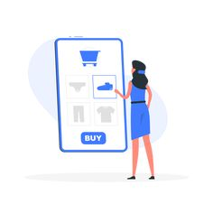 Online shopping by Freepik Stories Website Illustration, Flat Illustration, Cool Suits, Vector Design, 2d, Online Shopping, Character Design, Concept, Logos