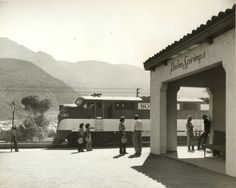 Palm Springs Southern Pacific Station located on Tipton Road, off 111, on the way to Whitewater – early 1950s.