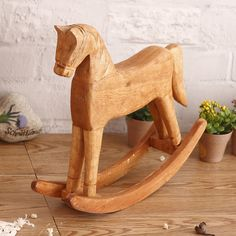 Cheap decorative decorative, Buy Quality decorative home decor directly from China decoration color Suppliers: Wood Rocking Horse Figurine solid color Animals furnishing articles small adornmen Crafts Gifts Home Decor