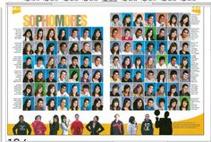 like people across the bottom of page - great idea to increase time in yearbook for each student