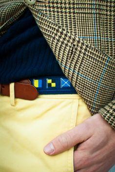 Leather Man Flag Belts