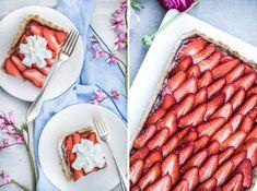 Celozrnný koláč s jahodami a marcipánem na gril Food, Essen, Meals, Yemek, Eten