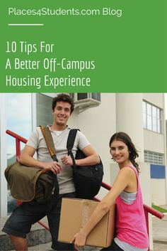 10 tips for a better off-campus #studenthousing experience.  #college #blog