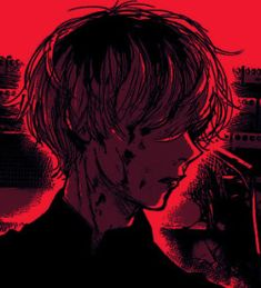 Red Aesthetic Grunge, Aesthetic Anime, Kaneki, Bakugou Manga, Tokyo Ghoul Manga, Arte Obscura, Gothic Anime, Cybergoth, Dark Anime