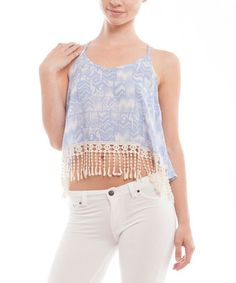 Another great find on #zulily! Periwinkle Strappy-Back Crop Top by Free to Fly #zulilyfinds