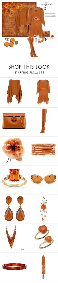 """""""Monochrome"""" by deborah-518 ❤ liked on Polyvore featuring Roberto Cavalli, Tory Burch, Neiman Marcus, Gucci, Vita Fede, Annello, Corinne McCormack, Kenneth Jay Lane, NOVICA and Alexa Starr"""