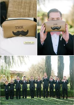 grooming kit groomsmen gift #groomsmangifts #guygifts #weddingchicks http://www.weddingchicks.com/2014/01/16/dynamite-and-pearls-wedding/