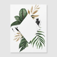 Karten Diy, Plant Painting, Modern Tropical, Watercolor Cards, Diy Cards, Art Projects, Birthday Cards, Art Drawings, Card Making