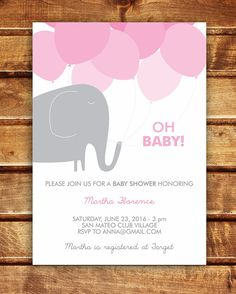 Elephant Baby Shower Invitation  Boy and Girl  4 by spottedpixel