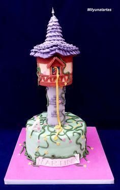 Tangled cake. Tarta torre Rapunzel