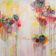 Dennis Happé Untitled 90x90cm, acrylic on canvas