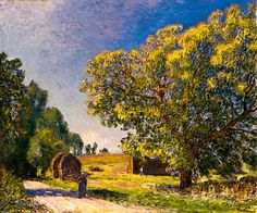 Alfred Sisley - A forest clearing, 1895 at Thyssen-Bornemisza Museum Madrid Spain