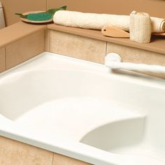 Japanese Soaker Tub With Integrated Seat Design