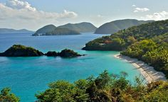 St. John in the U.S. Virgin Islands. (From: 40 Islands You'd Love To Be Stranded On)