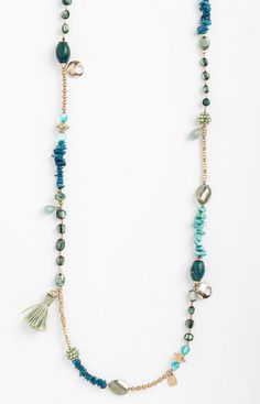 Extra Long Bead Necklace by Sara Bella