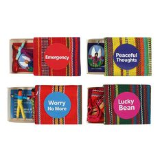 Set of 48 Emergency Kit Worry Dolls with Display Worry Dolls, No Worries, Peace, Display, Kit, Thoughts, Inspiration, Floor Space, Biblical Inspiration