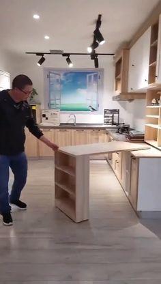 Kitchen Room Design, Home Room Design, Modern Kitchen Design, Home Decor Kitchen, Interior Design Kitchen, Home Kitchens, Cuisines Design, House Rooms, Kitchen Organization