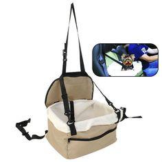 £6.67 GBP - Folding Dog Travel Booster Bag Cat Puppy Pet Car Seat Carrier Safety Belt Cover #ebay #Home & Garden