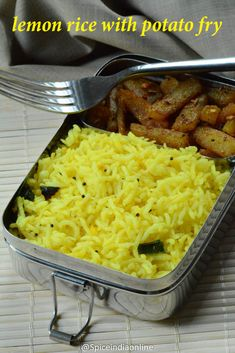 Jeera rice mushroom do pyaza menu platter pinterest mushrooms kids school lunch box 13 lemon rice with potato fry forumfinder Image collections
