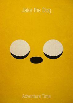 Minimalist Adventure Time Jake Art Print