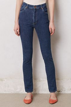 Won Hundred - Brigitte High Rise Jeans (Indigo) Nautical Tops, Anthropologie Clothing, Jeans And Flats, Men's Fashion Brands, Current Fashion Trends, Perfect Jeans, High Rise Jeans, Fashion Outfits, Fashion Shoes