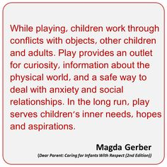 "This quote provides information on why ""Play"" is beneficial to one's life and how as a Child Life Specialist we must promote this. As we may find it providing a safe way for one to cope with anxiety and social relationships within their development. Learning Stories, Play Based Learning, Learning Through Play, Early Learning, Preschool Quotes, Teaching Quotes, Education Quotes, Teaching Tips, Early Childhood Quotes"