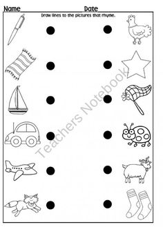 Rhyming Worksheet  from Rockin Teacher Materials on TeachersNotebook.com (1 page)  - Use this rhyming worksheet with your kiddos to check on their rhyming skills. You can also check out some other items you can get to help them learn to rhyme!